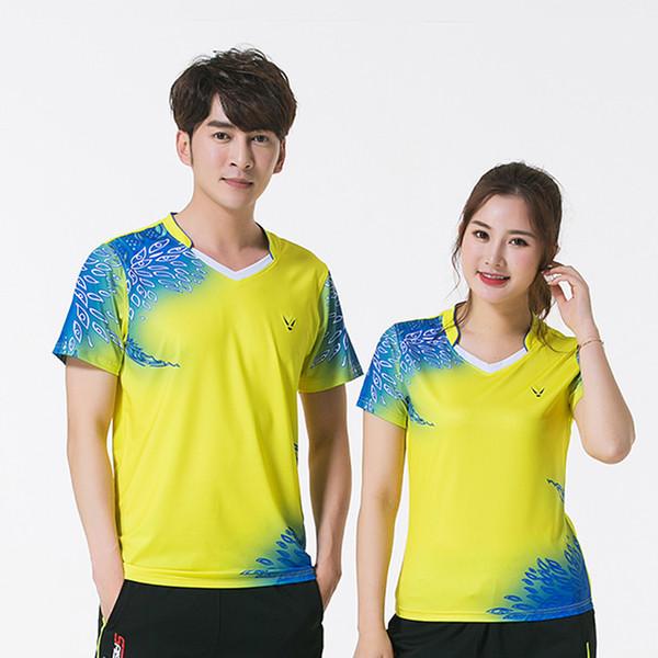 Free Print Neue schnell trockene Badminton-Kleidung, Tischtennis-Shirt, Sporthemd, T-Shirt Herren / Frau, Hemden 3885AB