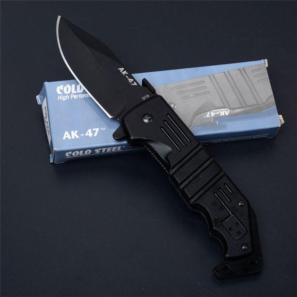 Strumento mano DHL libero Cold Steel AK47 coltello pieghevole Flipper molto Sharp Camping gear Tactical Survival di sopravvivenza Coltello Strumenti EDC P196R Y