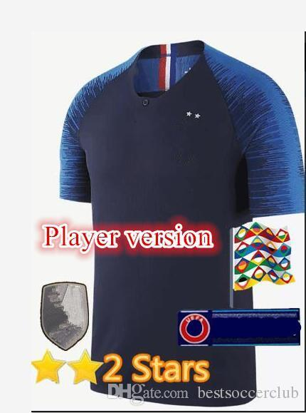 MBAPPE Player Version Pogba World cup 2018 2019 FR soccer Jersey home PAYET DEMBELE MBAPPE GRIEZMANN KANTE national team football shirts