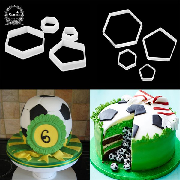 Football fondant cutter plastic cutter fondant molds Cake Decorating Molds Boy birthday cake moulds chocolate gumpaste moulds