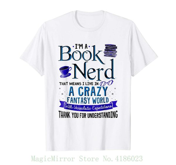 I'm A Book Nerd Funny Book Lover T-shirt Bookworm Gift Short Sleeve Mens Formal Shirts