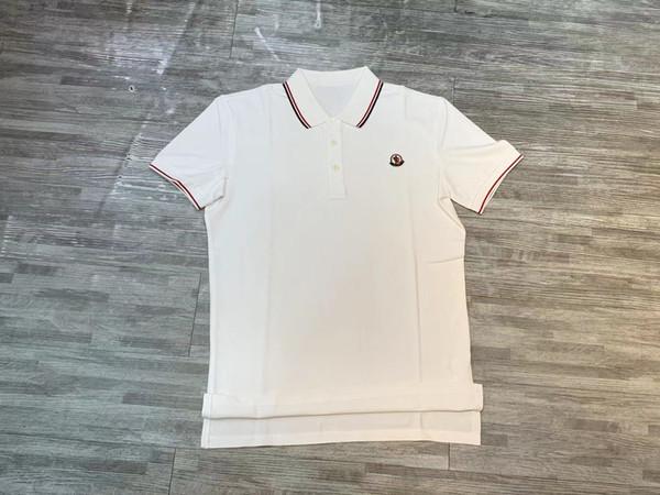 19ss Новые мужские дизайнерские рубашки поло 1014 Италия Рим марка с коротким рукавом рубашки поло Хип-хоп стиль вышивка печать высокого качества 100% хлопок