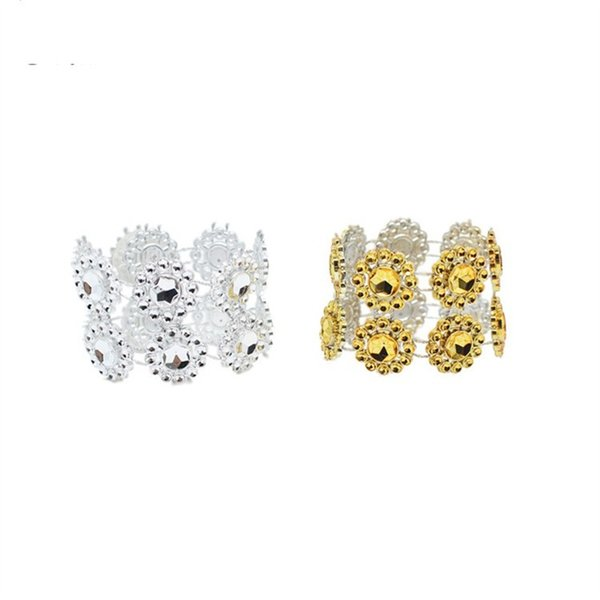 Napkin Ring Crystal Net Drill Hoop Sun Flower Swing Table Creative Circle Wedding Celebration Hotel Articles Factory Direct Selling 0 6ms p1