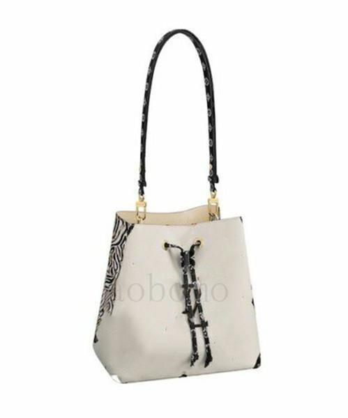 top popular 2019 Best quality women luxury designer mono gram caramel white jungle tote neonoe handbags mono gram bucket bag with tags2899# 2019