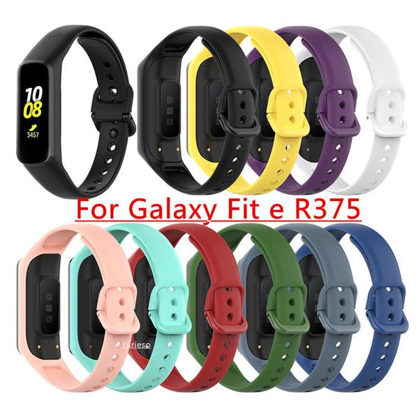 Correa de silicona banda reloj de pulsera de la correa de Samsung Galaxy Fit-e pulsera inteligente R375 reemplazo venda de reloj de la correa de accesorios