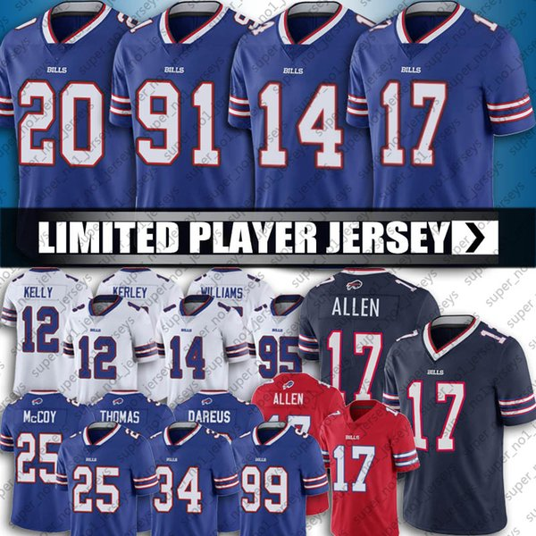 best selling 17 Josh Allen Buffalo Football Bill Jersey 14 Stefon Diggs Jersey 49 Tremaine Edmunds Jerseys TreDavious White Jerseys Oliver Jersey Thomas