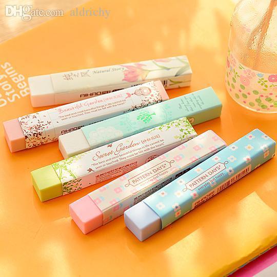 Atacado-1 Pencil Pencial Kawaii Eraser Bonito Material Escolar Papelaria Borrachas
