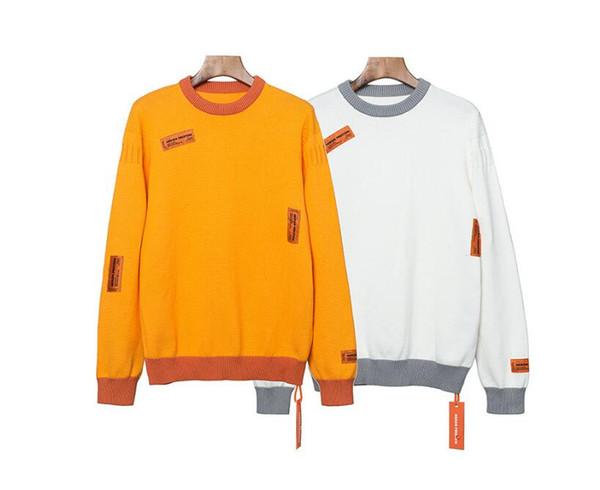 Gute Qualität Männer Frauen Sweatshirts Männer Frauen Hip Hop Heron Preston Hoodies Pullover Heron Preston Sweatshirt Weiß Orange