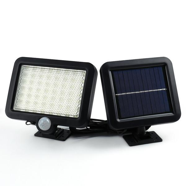 Lámparas solares para jardín Lámparas de jardín Decoración al aire libre Luces de sensor 56 LED Lámpara de pared de detección de movimiento solar Lámpara solar