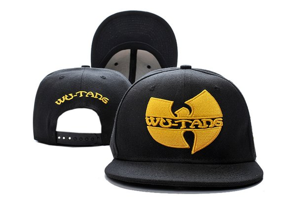 Wu Tang Snapbacks Hats Flat Brimmed For Adults Mens Womens Black Red Blue Camo Color For Wholesale