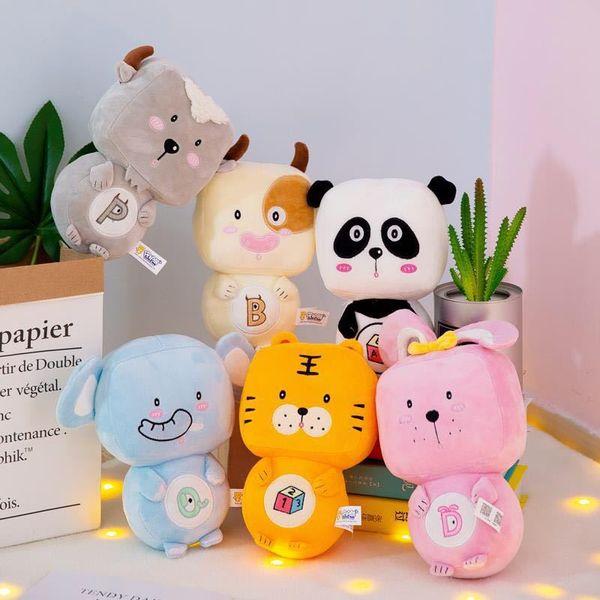 Panda kaninchen elefanten schafe tiger plüsch spielzeug elefanten kissen weich für kuscheltiere spielzeug baby playmate geschenke für kinder kinder