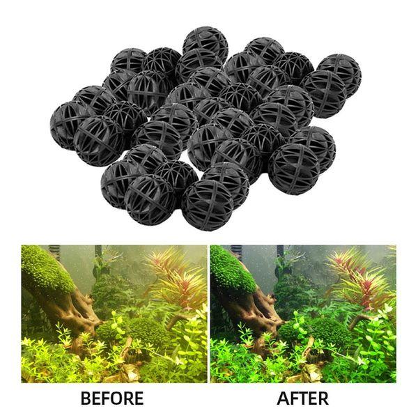 top popular 20-100pcs 18mm Aquarium Filter Bio Balls Wet Dry Canister Filters Media Fish Tank Biological Ball 2021