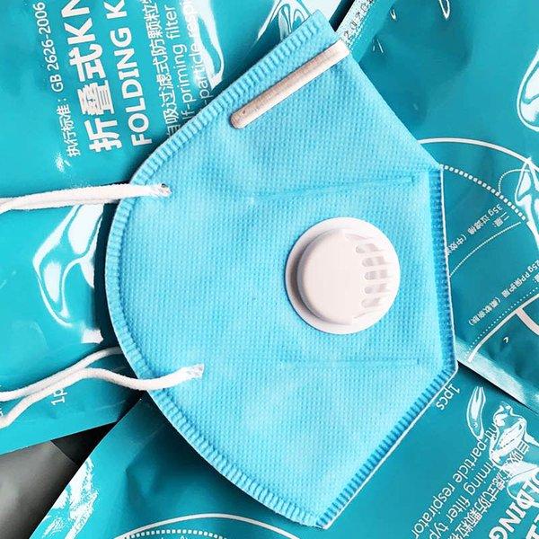 masque bleu avec valve