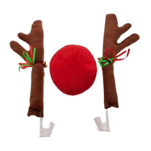 Urijk Christmas Present Araba A Burun Moda Merry Christmas Oto Araç Deccoration Hediye Yeni Tasarım 1set ile Süsleme ELK Antlers