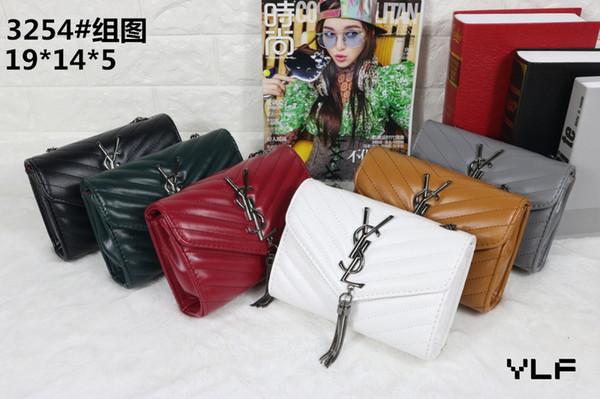 2019 sıcak satış stil kadın tasarımcı çanta ünlü marka crossbody messenger omuz çantaları zincir