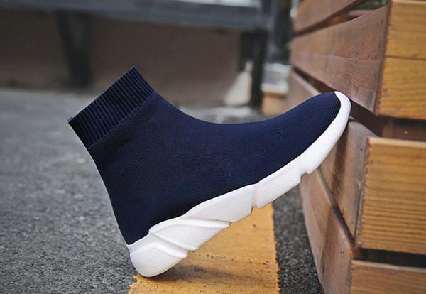 Sapatos de grife Homens Mulheres Trainer Botas de Moda Meias Sapatos Preto Dos Homens Sapatos Casuais Sapatilhas Sapatilhas 5reg