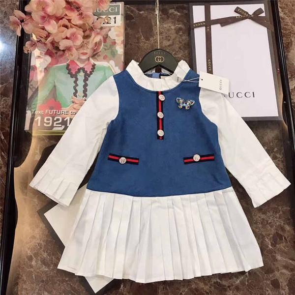 Moda 2019New Cat Summer Girls Girls manga corta dulce vestido de princesa Niño vestido lindo 190712