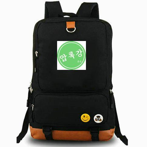 Amrokgang rucksack Good emblem trip daypack Physical Football team computer schoolbag Leisure day pack Sport school bag Outdoor backpack