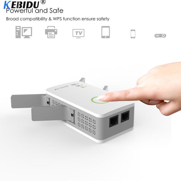 KEBIDU 1200 Mbps 2.4 GHz 5 GHz Dual Band AP Kablosuz Wifi Aralığı AC Genişletici Yönlendirici WPS 4 Harici Antenler Ile