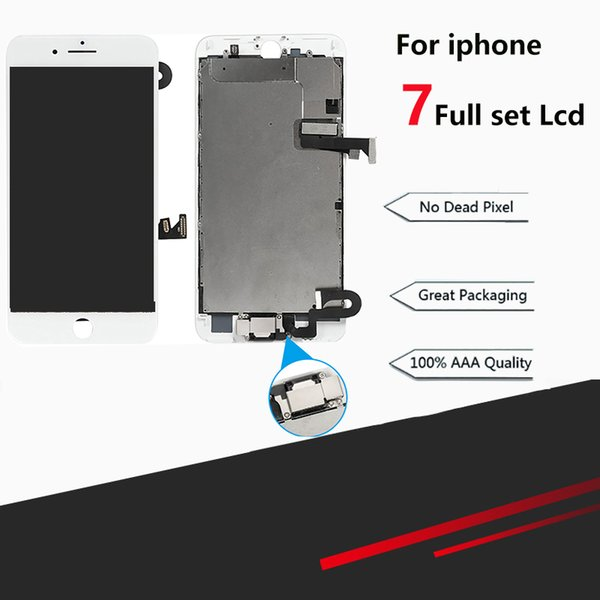Qualität aaa für iphone 7g lcd display touchscreen montage ersatz pantalla gute 3d touch mit front kamera + hörer lautsprecher