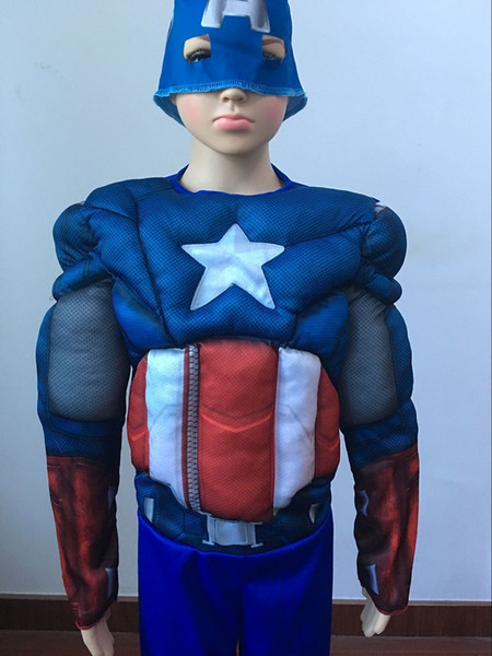 uscle costume CaGiPlay Children Avengers Captain America Muscle Costume disfraces halloween superhero boys birthday gift cosplay fancy dr...