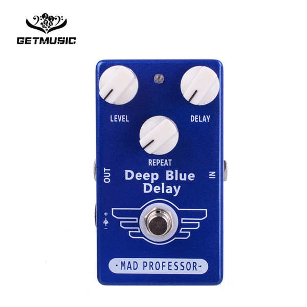 Free Shipping Mogoo Guitar Effect Pedal Delay And True Bypass Deep Blue Delay Free shipping