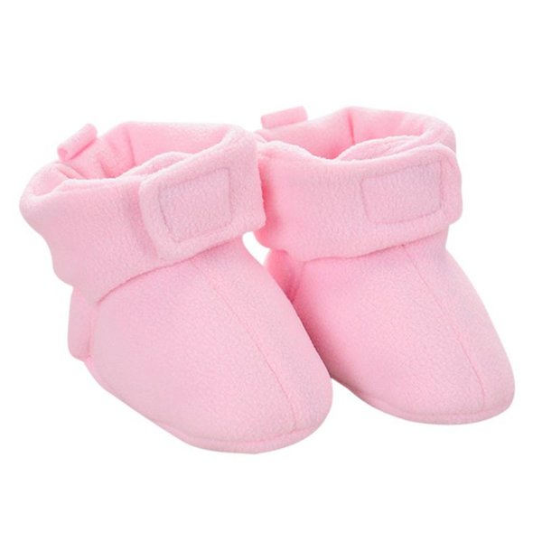 Baby Newborn Cozie Faux Fleece Bootie Winter Warm Infant Toddler Crib Shoes Classic Floor Boys Girls First Walkers 0-12M