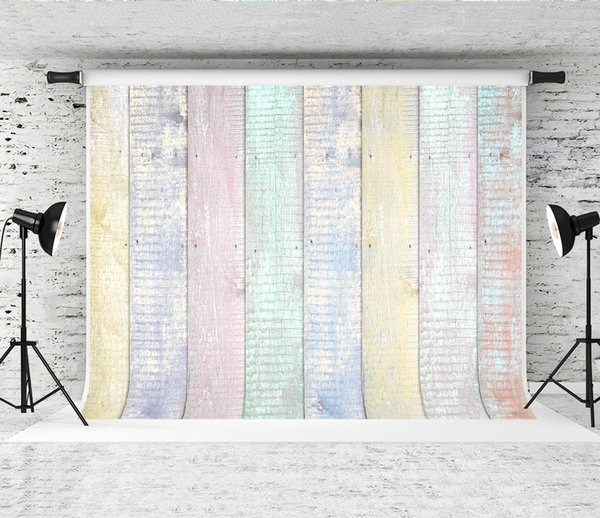 Dream 7x5ft Colorful Wood Wall Backdrop Baby Portrait Photo Booth Texture Background Studio Prop Newborn Photographer Shoot Wooden Backdrops