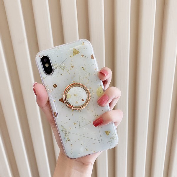 One Piece phone case fashion For iPhone 6S 7 8 P X XS Platinum starry sky Designer phone case back cover with Kickstand