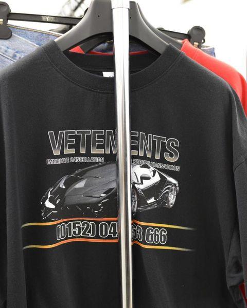 Vetements FEAR OF GOD T Shirt Men Women Racing Streetwear Xxxtentacion OVERSIZE Harajuku Top Tees Short Sleeve FOG Funny Tshirts