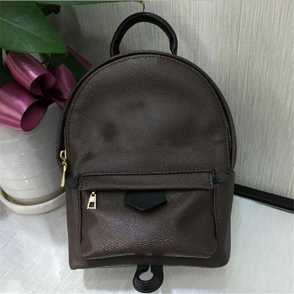 Yüksek Kalite En İyi Fiyat! Özgün Tasarım Hakiki deri mini kadın çantası erkek tasarımcı sırt çantaları lüks ünlü moda Springs Palm