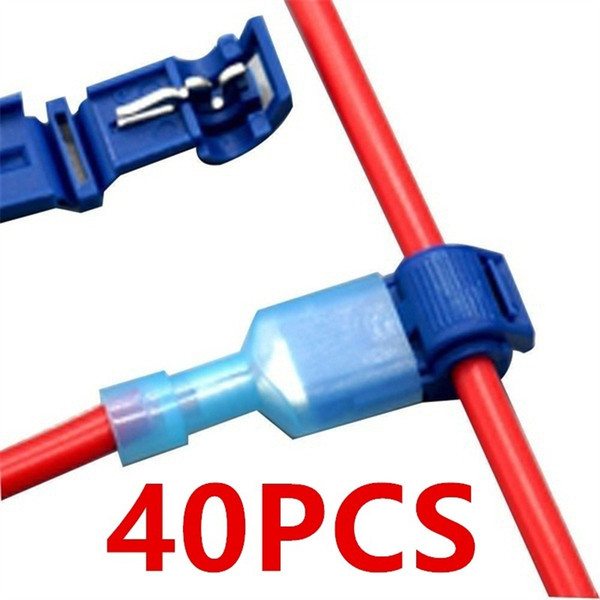 Home Improvement 40Pcs Quick Electrical Cable Connectors Snap Splice Lock Wire Terminals Crimp Terminals Home Improvement
