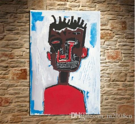 2019 High Quality Jean Michel Basquiat Handpainted Abstract Graffiti Wall Art Oil Painting On Canvas Home Decor Multi Sizes Frame Options G57 From