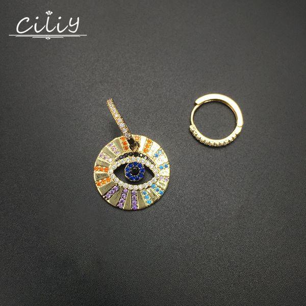 Ciliy Luxury Eye Earrings Ladies Rainbow Cubic Zirconia Dangle Earrings 2019 Fashion Women Wedding Jewelry Gift S711823aj
