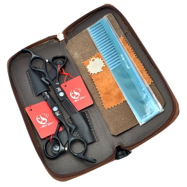 "Meisha 5.5"" 6.0"" High Quality Hairdressing Scissors Set Japan 440C Human Hair Cutting Shears Salon Thinning Tijeras Barber Supplies HA0173"