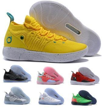 Basketball Shoes Kd 11 11s Sneakers 2019 Mens Green Multi Still Eybl BHM Kevin Durant XI Oero Foam Man Sport Trainer Zapatilla Shoes