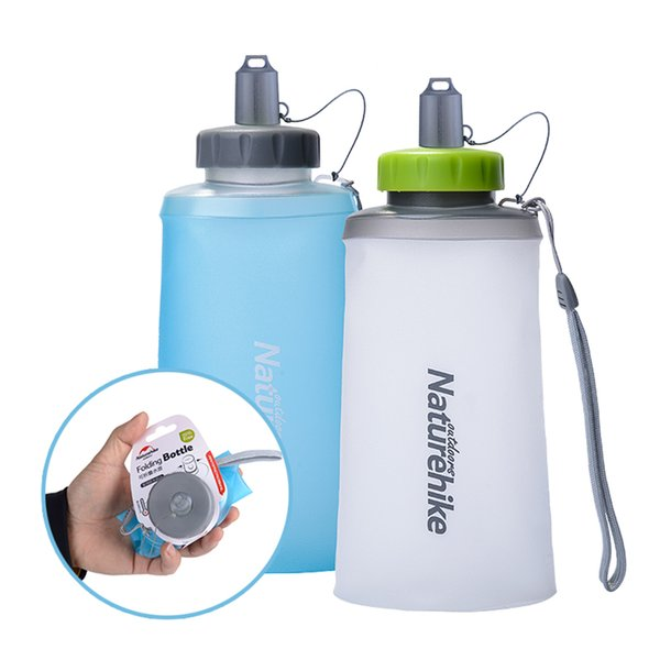 750ML / 500ML Collapsible Water Bottle Anti-bacterial Hydration Soft Bottle Wide Mouth Water Bag Sports