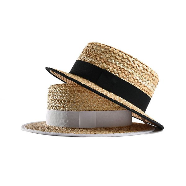 6d55a162eec Hats for Summer Women s Straw Boater Hat 2019 New Fashion Vacation Hats for  Ladies Top Quality 691002