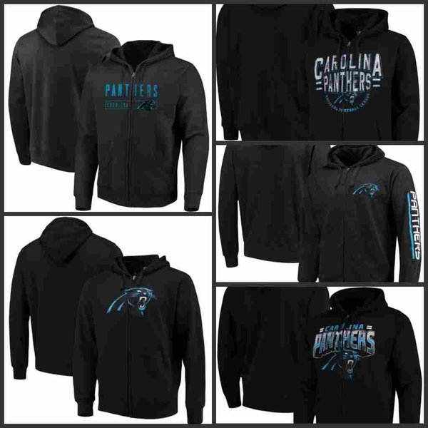 Sweat à capuche zippé Full Season 2019 New Carolina Men Panthers G-III Sports de Carl Banks
