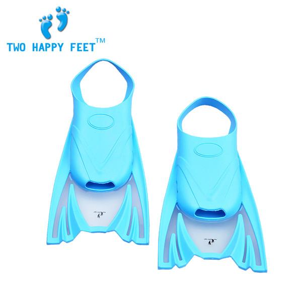 Силиконовые детские плавники плавники мягкие и удобные унисекс дайвинг ласты синий бесплатная доставка