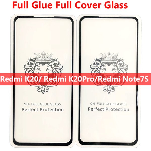 NEW Arrival REDMI K20 PRO K20PRO Note7S Note7 Note 7 Pro note7pro Full Glue Full Cover Tempered Glass Phone Screen Protector dhl free ship