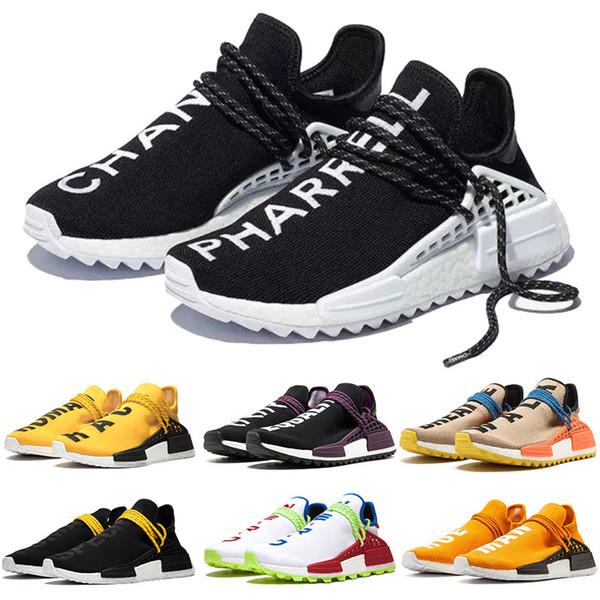 adidas nmd human race Pharrell Williams PW Sentier de Course humaine x Chaussures de tennis de luxe pour hommes