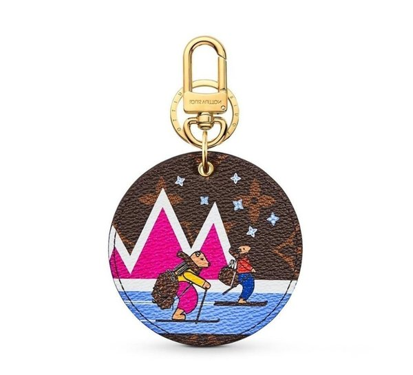 Animals M63756 Xmas New Animal Bag And Keychain Key Holders And More Leather Bracelets Chromatic Bag Charm And Key Holder Scarves Belts