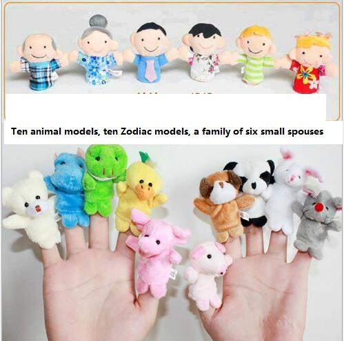 Babies'bedtime story dolls Zodiac plush toys Character cartoon hand puppets Cute baby animal finger dolls animals Puppetl