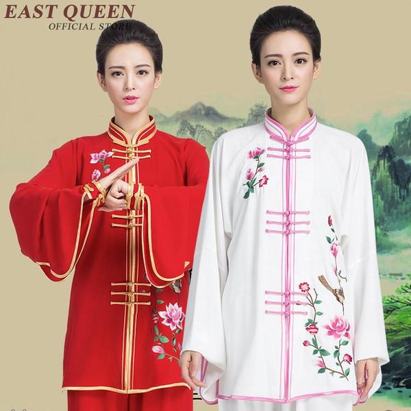Chinese traditional women tai chi uniform embroidery tai chi suit martial arts performances kung fu uniform KK758