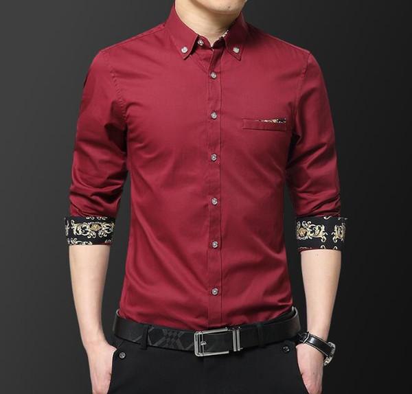 Compre Camisas De Vestir De Negocios De Moda Para Caballeros Masculinos Diseñador De Flores Camisa Casual Camisas De Vestir Para Hombre Para La Venta