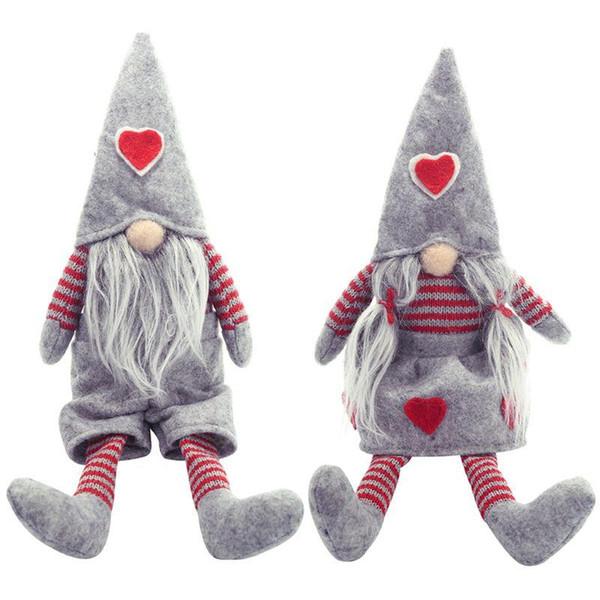 İyi Noeller Uzun Bacaklı İsveçli Santa Gnome Peluş Bebek Süsleme El yapımı Elf Oyuncak Tatil Evi Parti Dekoru