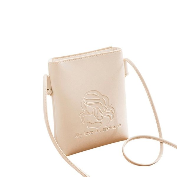 Cheap leather bags women 2018 fashion Candy Color Shoulder Small cross body Messenger Phone Bag Embossing Handbags bolsa feminina A0