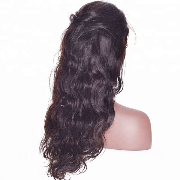 Virgin baby hair on sale human hair unprocessed long natural color big curly full lace silk top wig