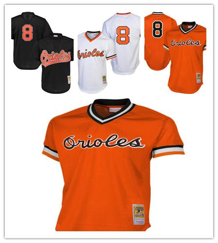 e558f1c3e93 Men s Orioles 8 Cal Ripken Jr. Majestic Orange Alternate Big   Tall  Cooperstown Cool Base